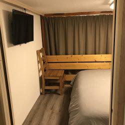 Vue de la séparation entre les 2 chambres