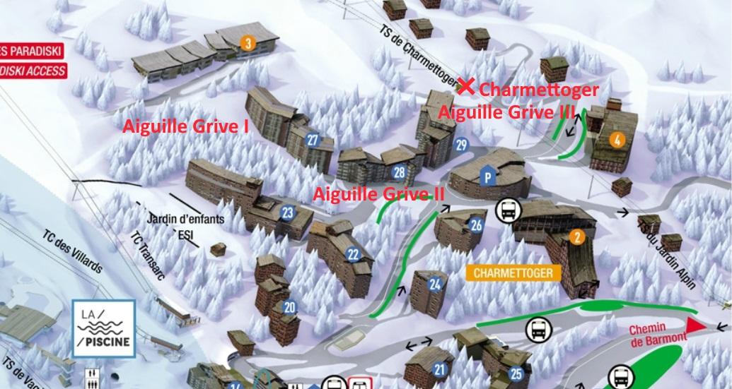 Plan de la résidence Auguille Grive I, II, III